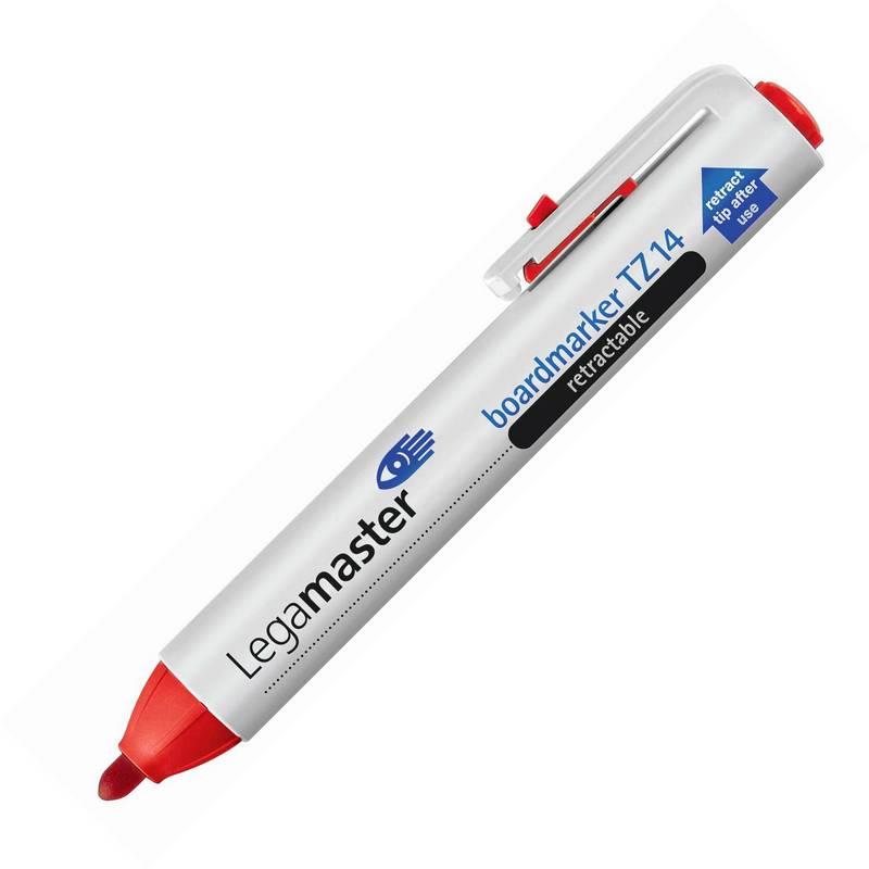 Zatahovací popisovač  TZ14, 1.5-3 mm, 10ks, červený