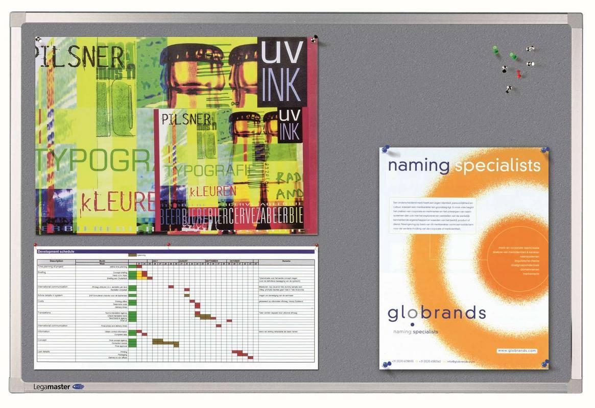 PROFESSIONAL plstěná tabule 90x120 šedá