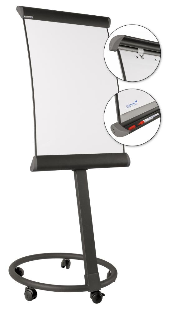 Flipchart TAURUS 102x67 cm, mobilní, TMAVĚ ŠEDÝ