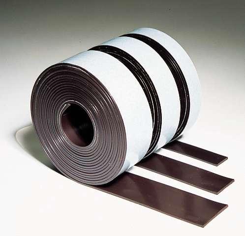 Samolepící magnetická páska, 25 mm x 3 m, hnědá