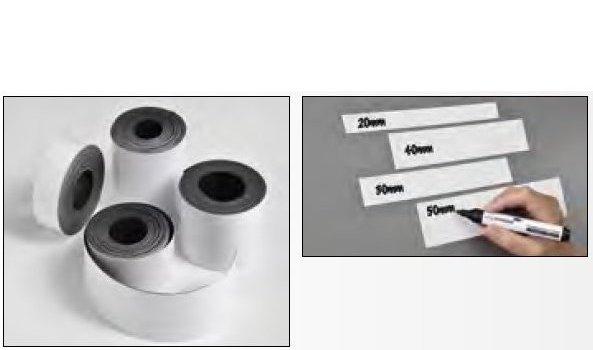 Magnetická páska popisovatelná, 20 mm x 3 m, BÍLÁ