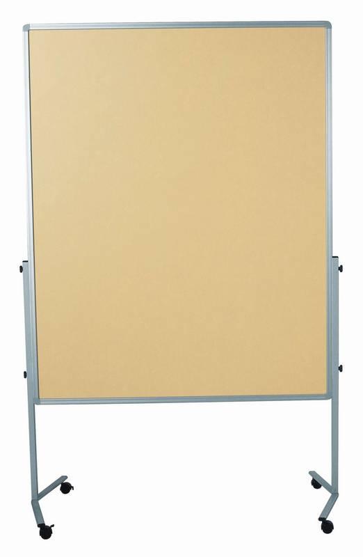 PREMIUM mobilní tabule 150x120 cm plstěná béžová