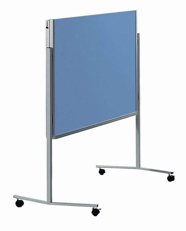 PREMIUM skládací mobilní tabule 150x120 cm plstěná modro-šedá