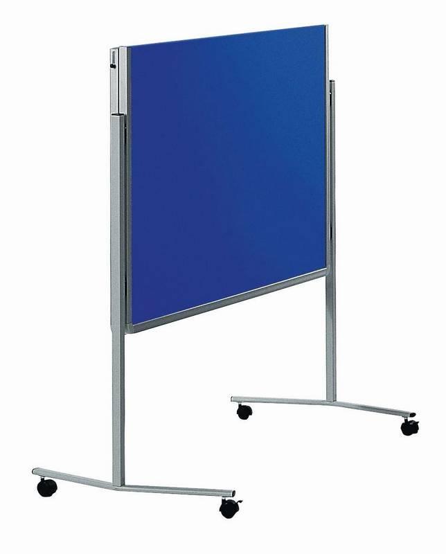 PREMIUM skládací mobilní tabule 150x120 cm plstěná modrá
