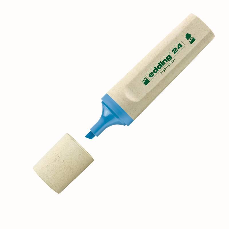 edding 24 eco zvýrazňovač, seříznutý hrot 2-5 mm, SVĚTLE MODRÝ