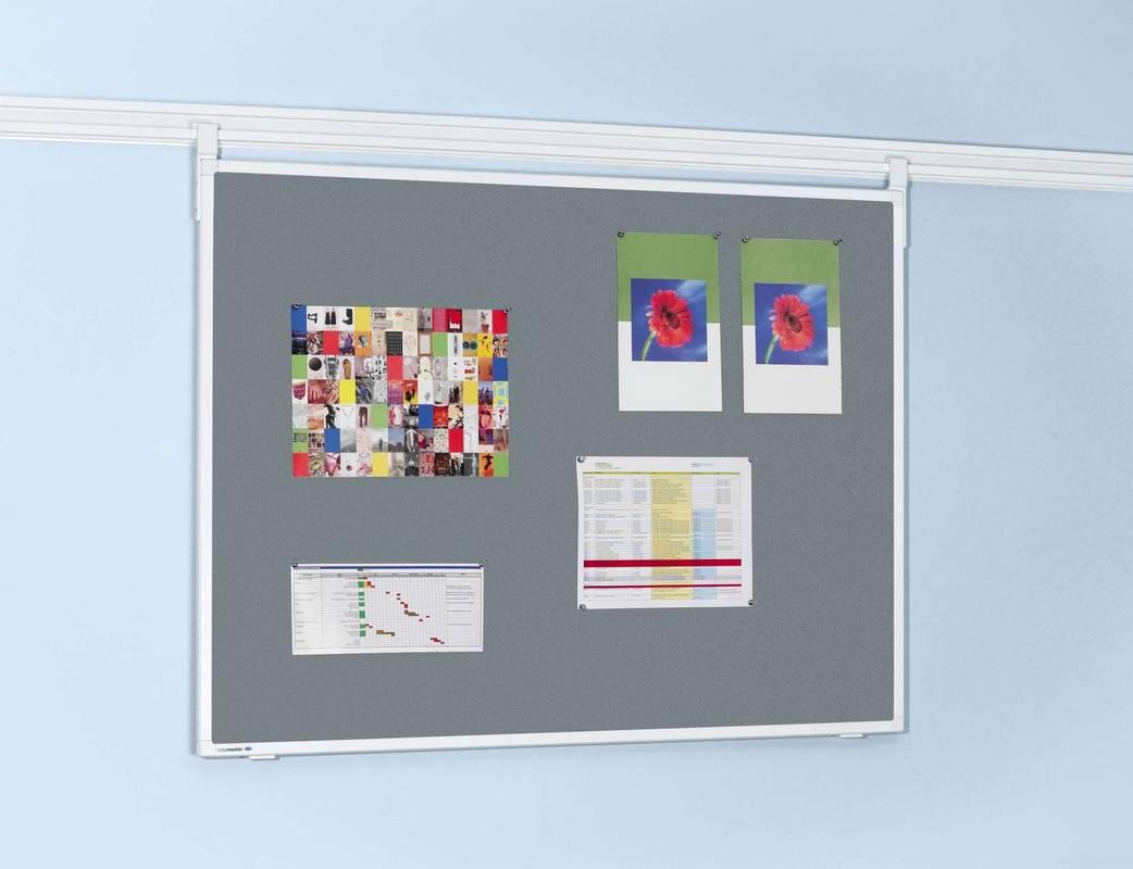 LL PROFESSIONAL plstěná tabule 90x120 cm šedá