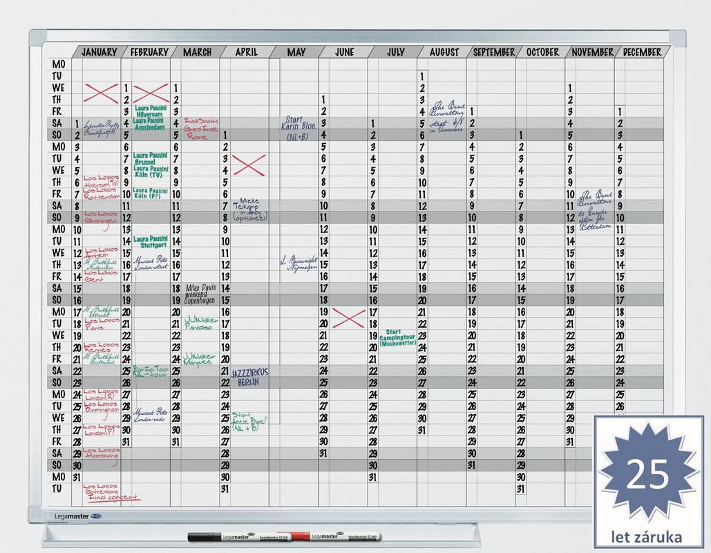 PROFESSIONAL roční plánovací tabule 90x120