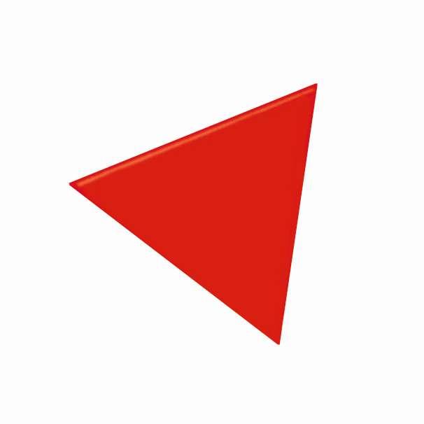 Magnetické symboly - trojúhelníky 10x10x10 mm, ČERVENÉ