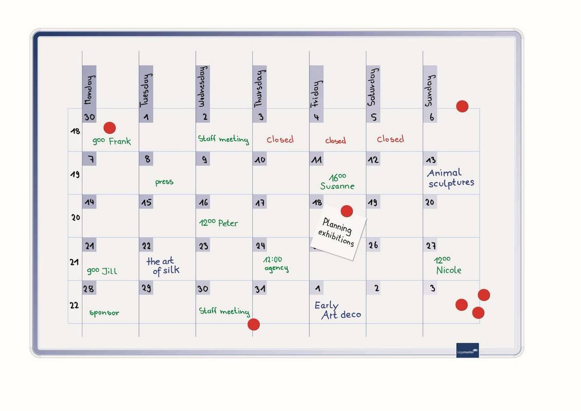 ACCENTS Linear univerzální plánovací tabule MODRÁ 60x90