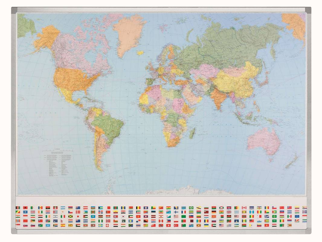 PROFESSIONAL mapa světa 98x142 cm