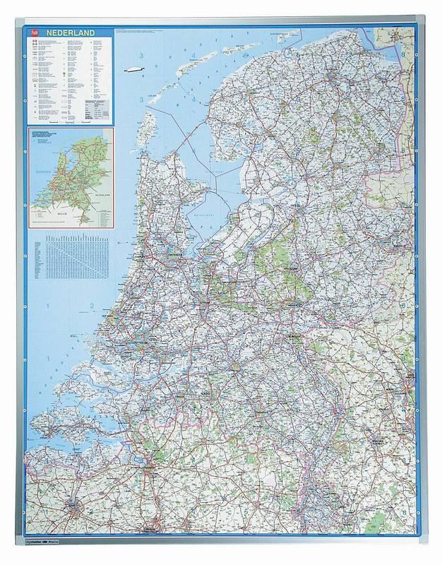 PROFESSIONAL automapa Holandska 130x101 cm