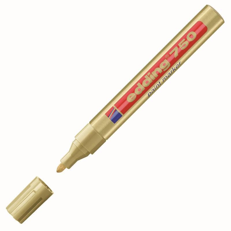 edding 750 lakový popisovač, kulatý hrot 2-4 mm