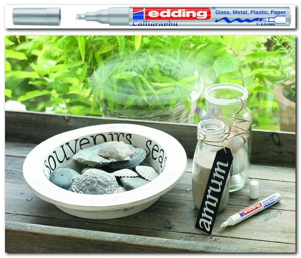 edding 753 kreativní kaligrafický lakový popisovač,  hrot 1-2.5 mm