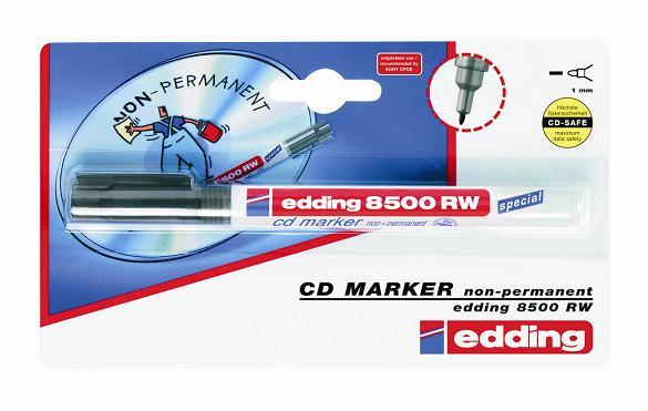 edding 8500 RW popisovač na CD/DVD/BD, kulatý hrot 1 mm
