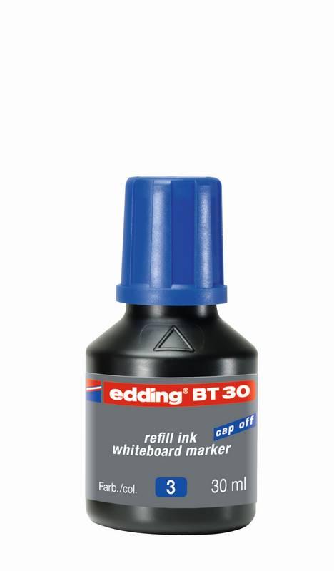 Náhradní inkoust edding BT30 (30 ml) na tabule, s kapátkem - MODRÝ