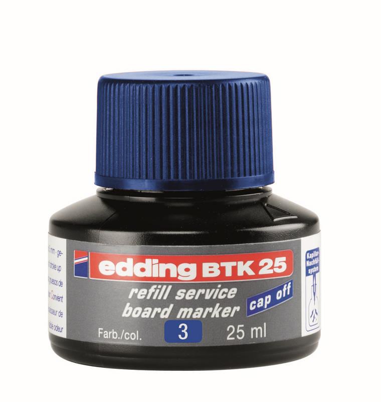 Náhradní inkoust edding BTK25 (25 ml) na tabule, kapilární - MODRÝ