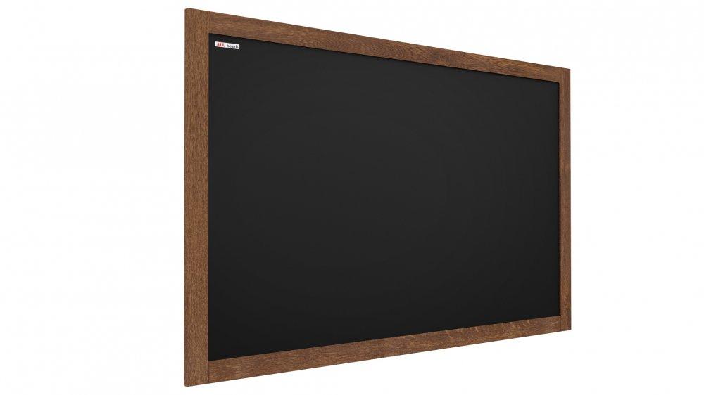 ČERNÁ křídová tabule v dřevěném rámu 100x80 cm
