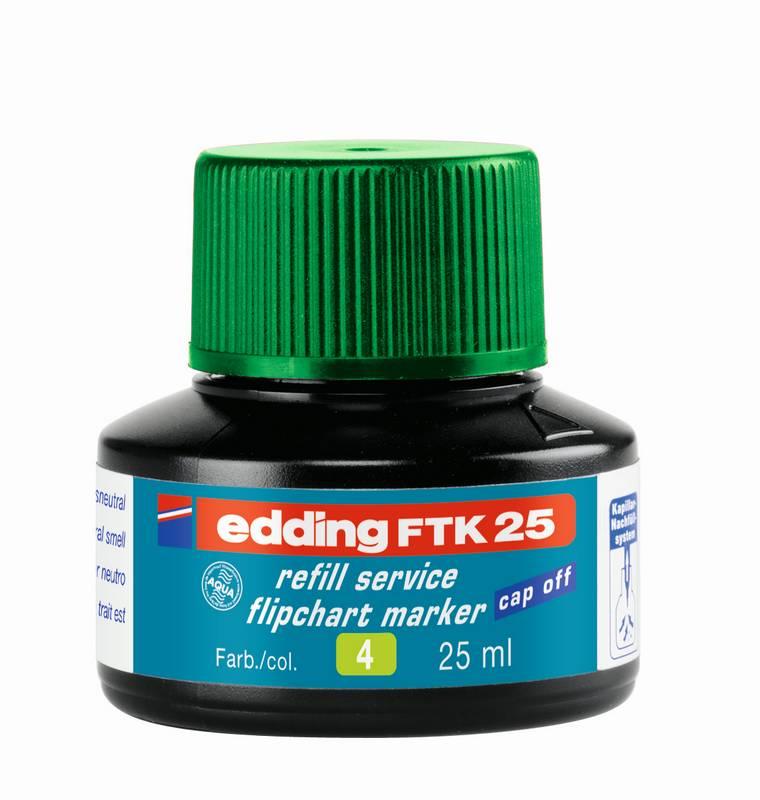 Náhradní inkoust edding FTK25 (25 ml) na flipcharty, kapilární - ZELENÝ