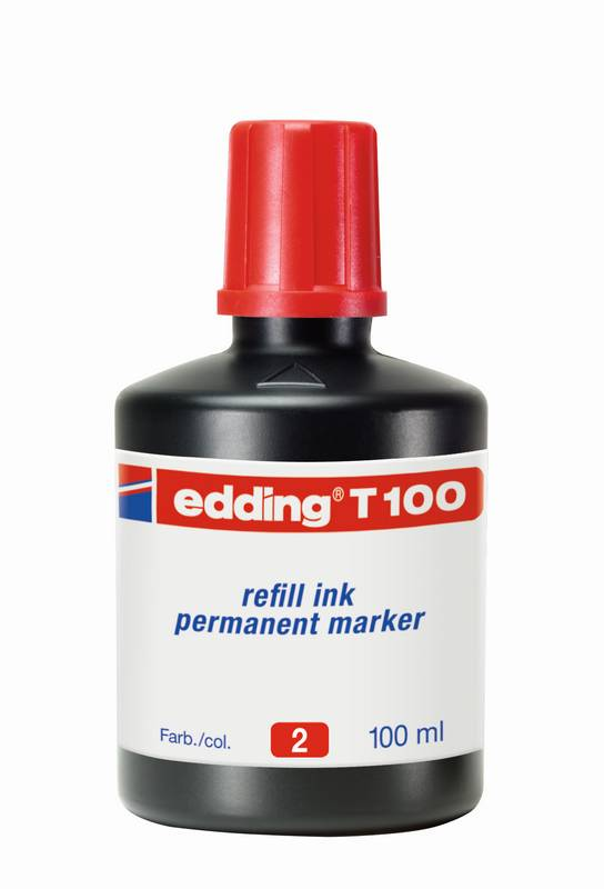 Náhradní inkoust edding T100 (100 ml) permanentní, s kapátkem