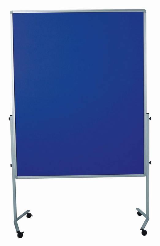 PREMIUM mobilní tabule 150x120 cm plstěná modrá