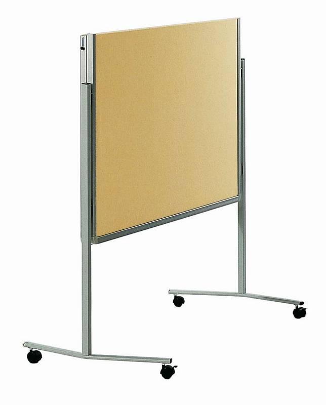 PREMIUM skládací mobilní tabule 150x120 cm plstěná béžová