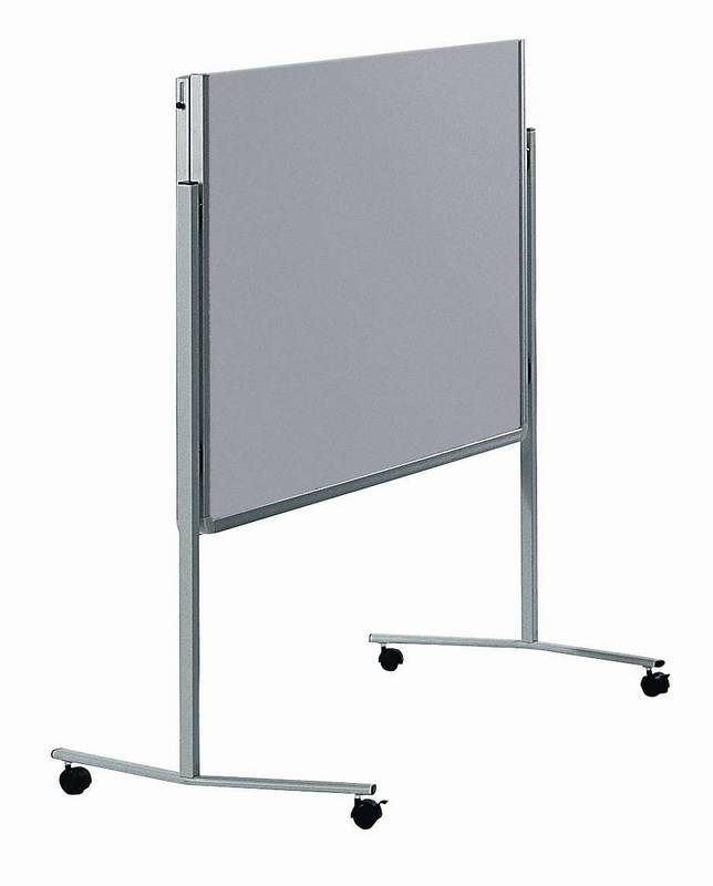 PREMIUM skládací mobilní tabule 150x120 cm plstěná šedá