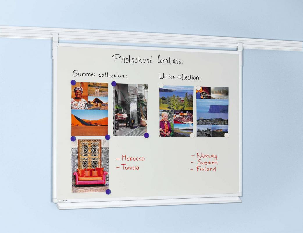 LL PROFESSIONAL bílá tabule 90x180 cm