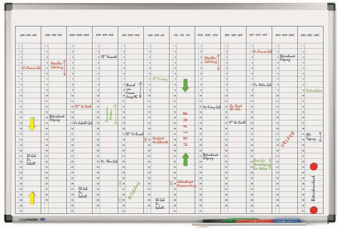 PREMIUM roční plánovací tabule vertikální 60x90