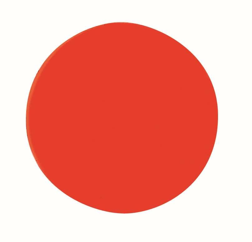 Magnetické symboly - kruhy,  prům.10 mm, sada 54 ks, ČERVENÉ