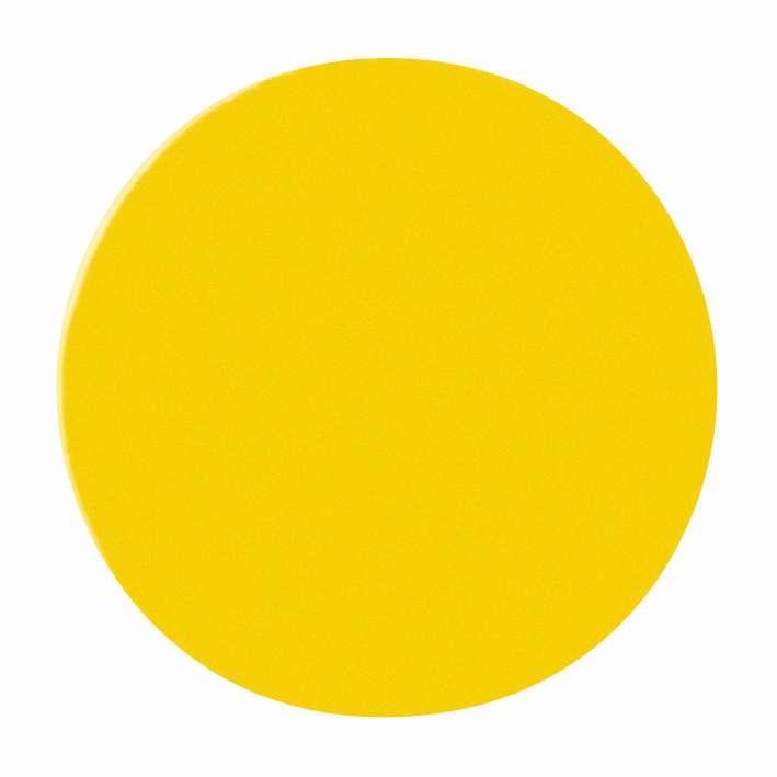 Magnetické symboly - kruhy,  prům.10 mm, sada 54 ks, ŽLUTÉ