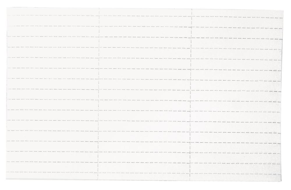 Vkládací štítky do magn. drážek 10x60 mm, 225 ks, BÍLÉ