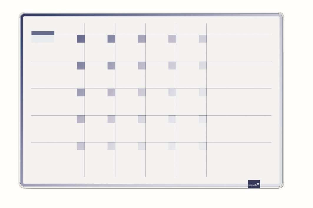 ACCENTS Linear měsíční plánovací tabule MODRÁ 60x90