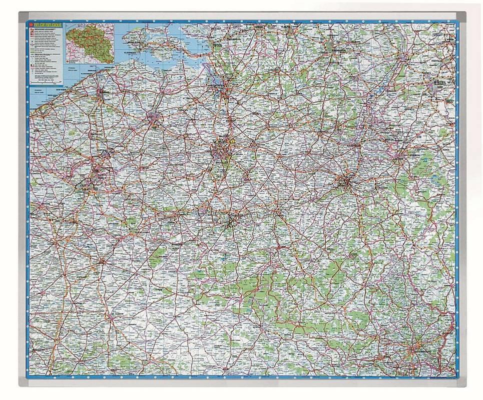 PROFESSIONAL automapa Belgie 101x121 cm
