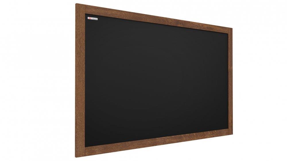 ČERNÁ křídová tabule v dřevěném rámu 50x40 cm