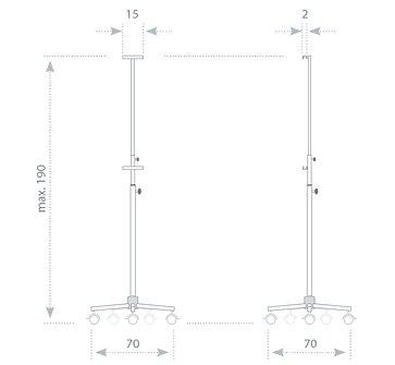 Stojan na tabule 45x60 až 90x120, mobilní - světle šedý