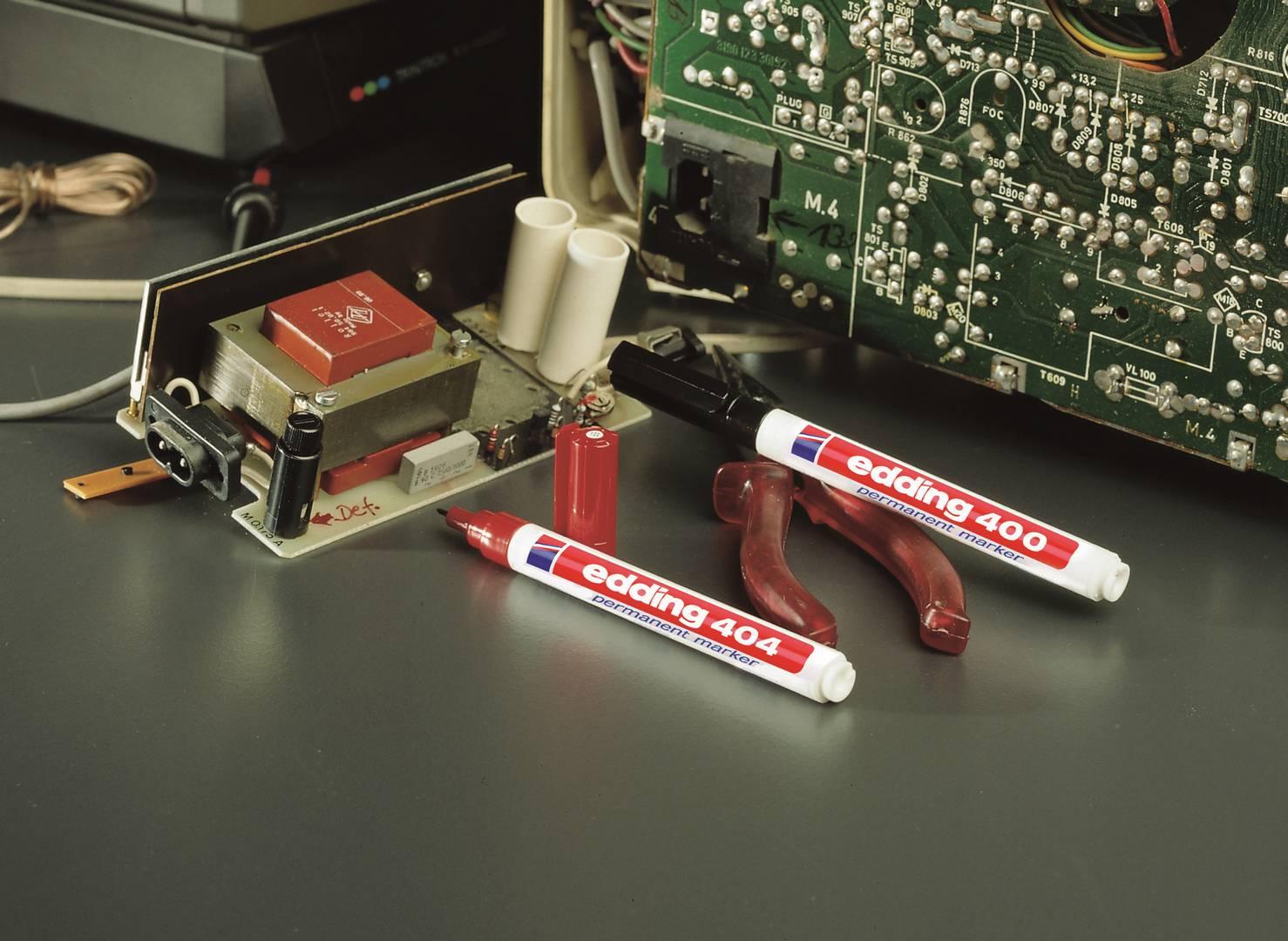 edding 400/4S permanentní popisovač, kulatý hrot 1 mm, sada 4ks