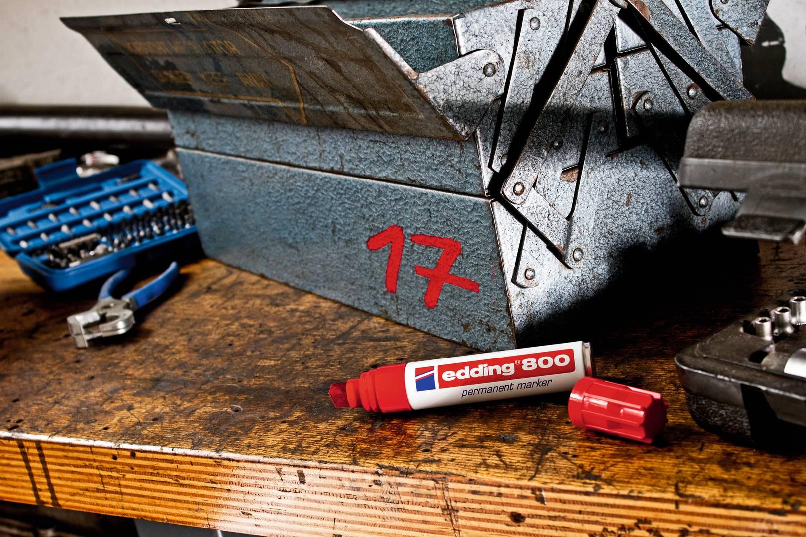 edding 800 permanentní popisovač, šikmý hrot 4-12  mm, sada 5 ks