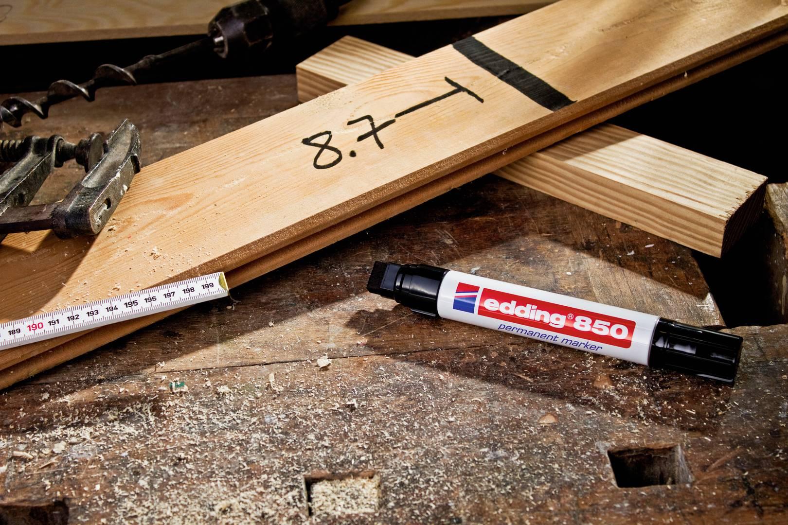 edding 850 permanentní popisovač, šikmý hrot 5-16  mm