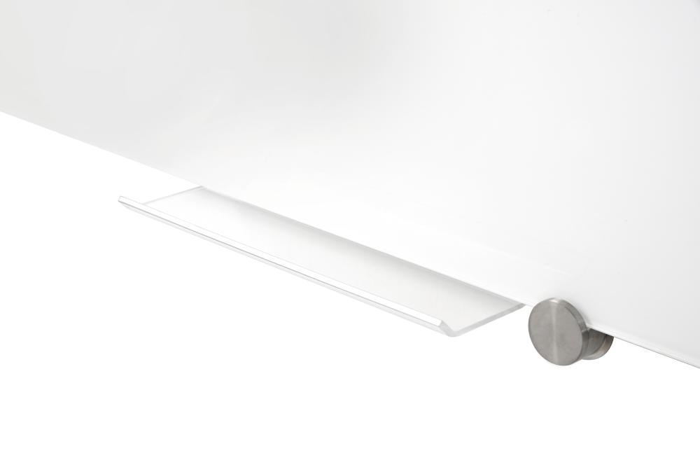 GLASSBOARD barevná skleněná tabule 90x120cm - BÍLÁ