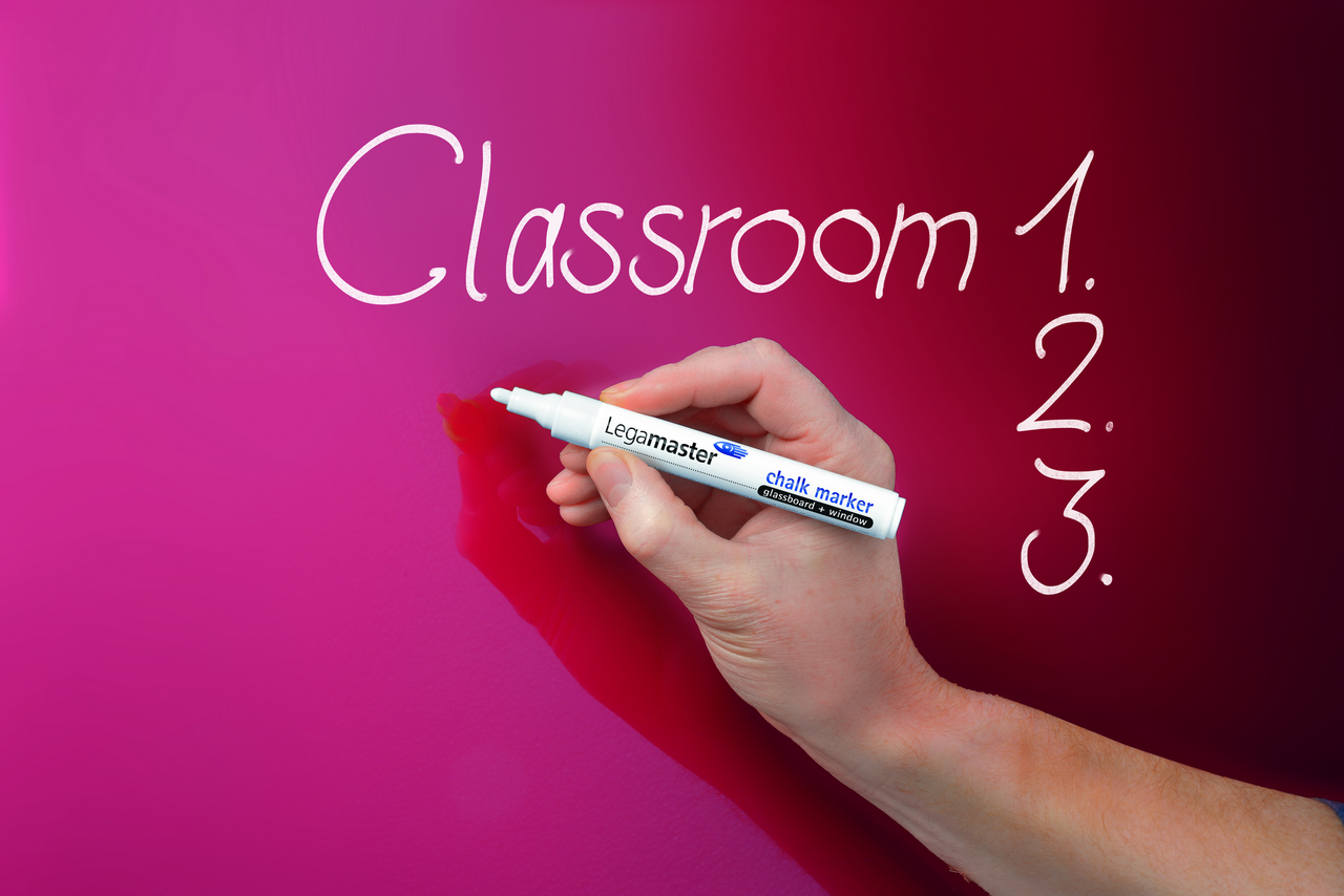GLASSBOARD barevná skleněná tabule 90x120cm - ČERVENÁ