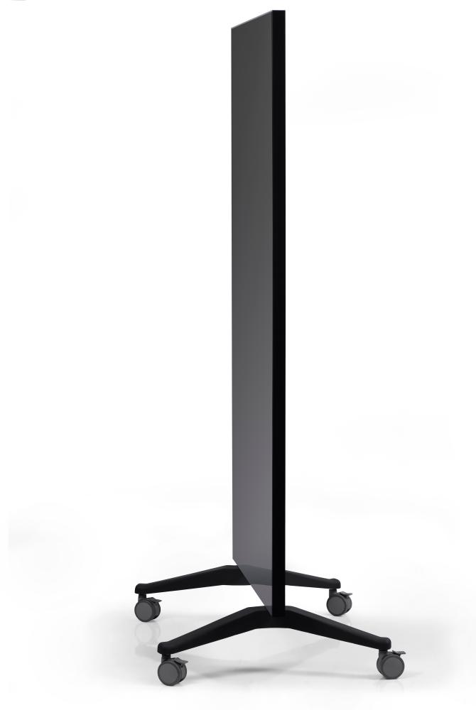 GLASSBOARD MOBILNÍ skleněná tabule (PARAVAN) - ČERNÁ