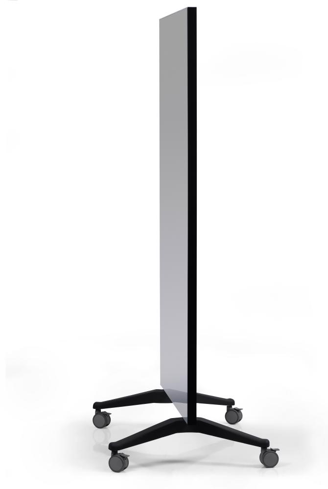 GLASSBOARD MOBILNÍ skleněná tabule (PARAVAN) - ŠEDÁ