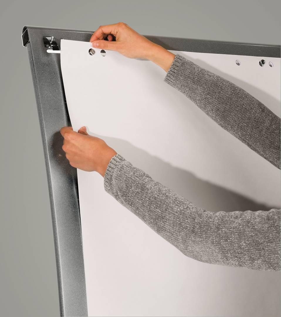 Flipchart SILVERTEC mobilní, 103x70 cm, STŘÍBRNÝ, 1 rameno