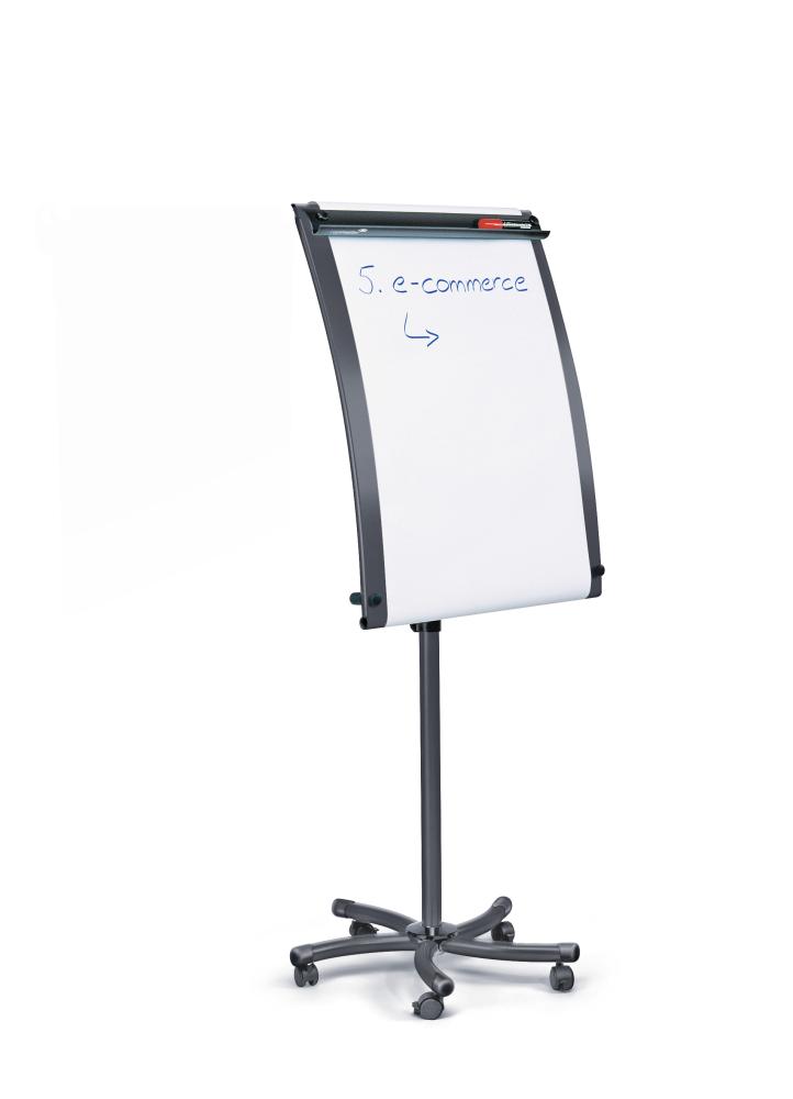 Flipchart BLACKTEC mobilní, 103x70 cm, ČERNÝ, 1 rameno
