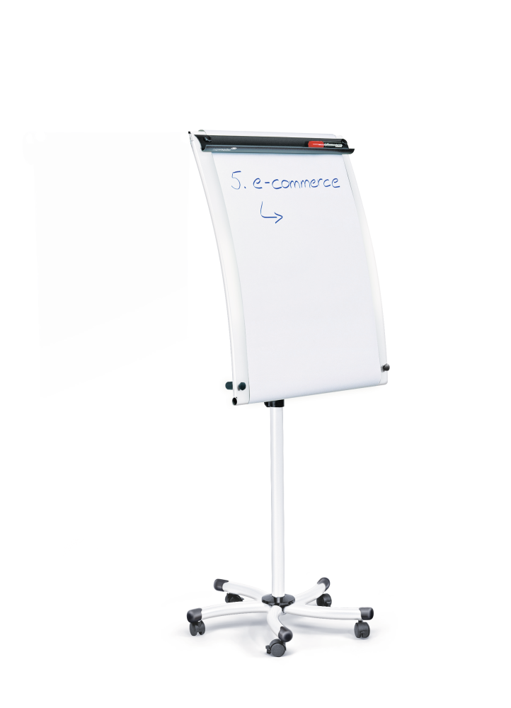 Flipchart WHITETEC mobilní, 103x70 cm, BÍLÝ, 1 rameno