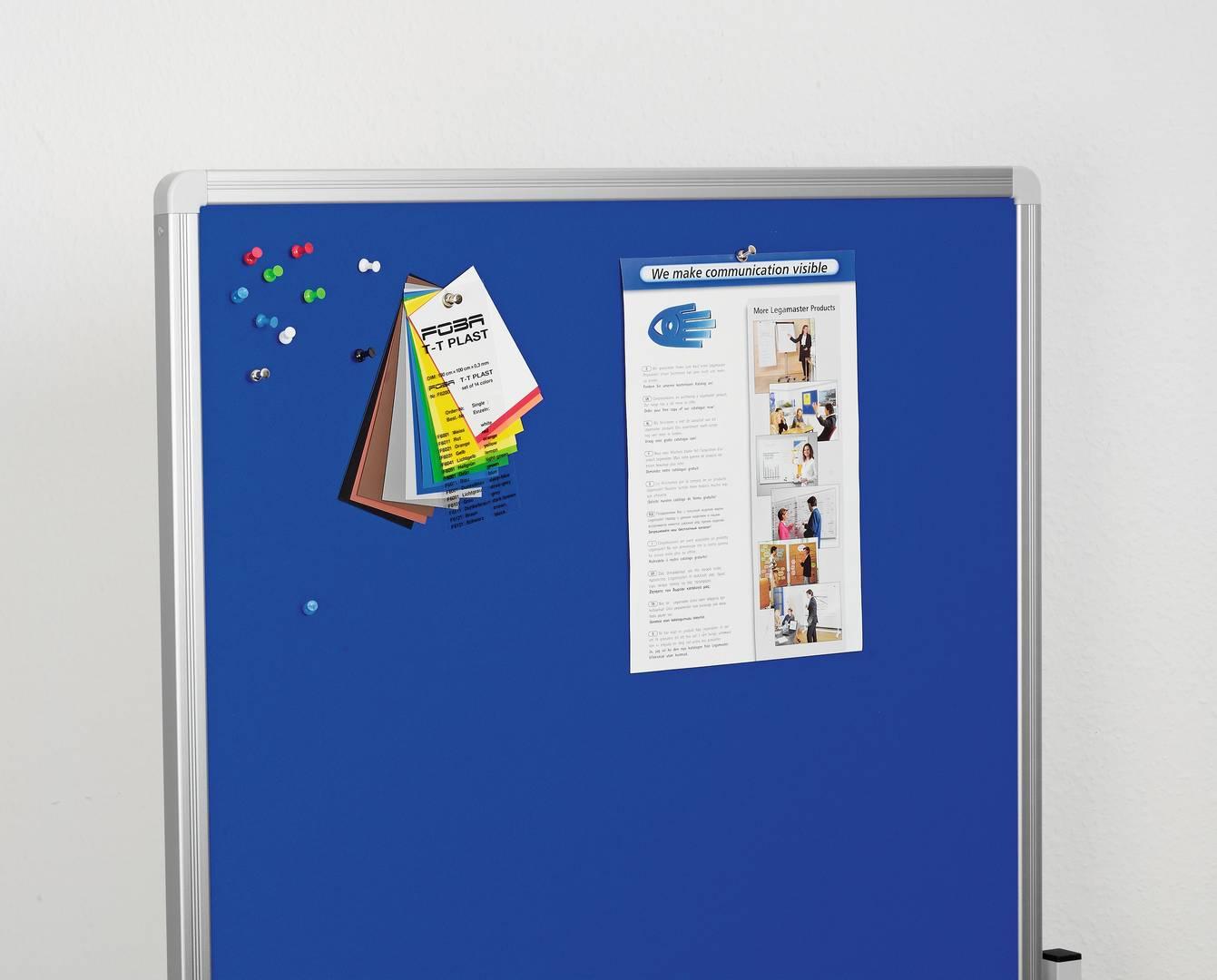 MULTIBOARD - mobilní tabule 3 v 1, 120x75 cm, MODRÁ