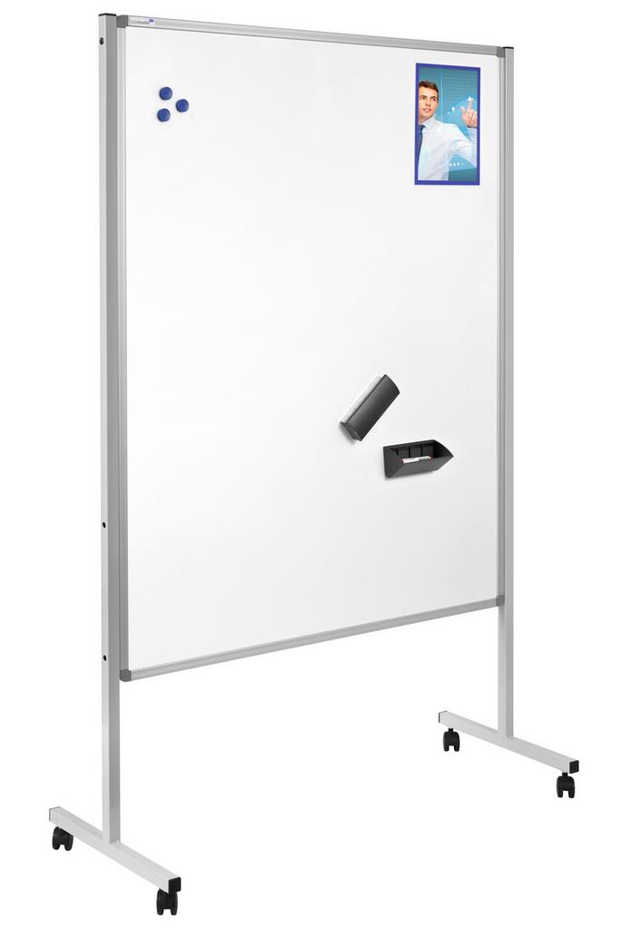 MULTIBOARD XL - mobilní tabule 3 v 1, 150x120 cm, MODRÁ