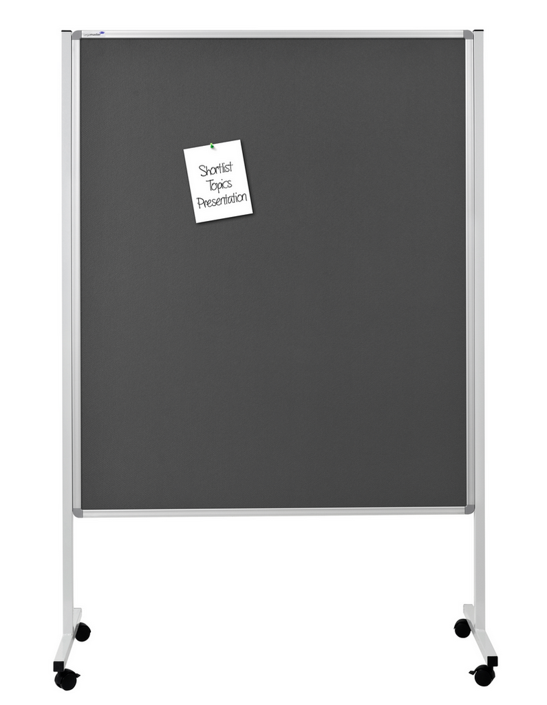 MULTIBOARD XL - mobilní tabule 3 v 1, 150x120 cm, ŠEDÁ