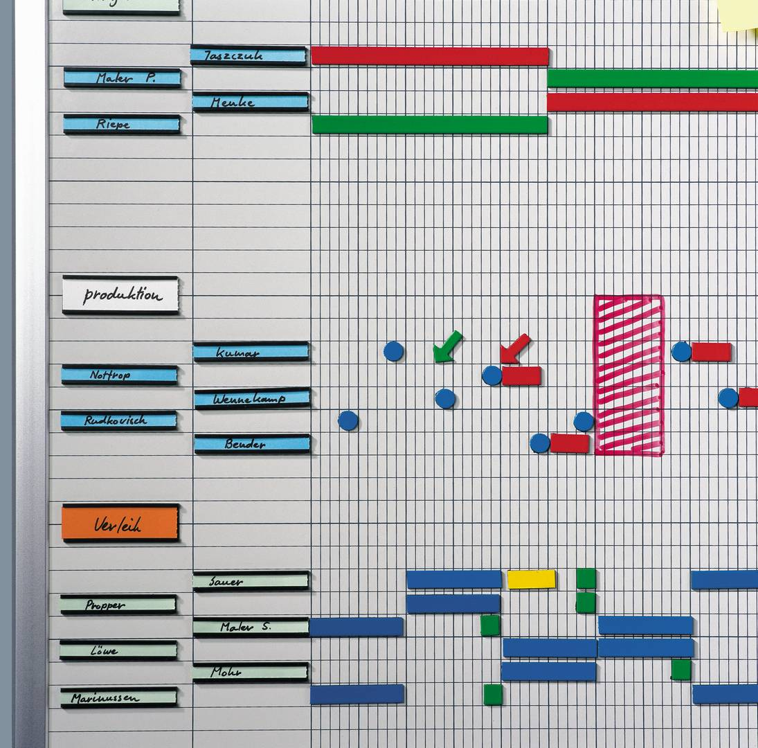 PROFESSIONAL roční plánovací tabule (50 polí) 75x150 cm