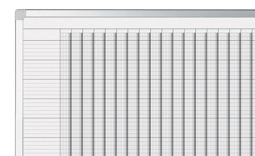 PROFESSIONAL roční plánovací tabule (75 polí) 100x200 cm